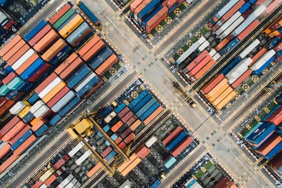 Gasdetektor til container sikkerhed - container lager luftfoto