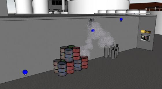 Gasdetektor til kemikalie opbevaring - vi redder liv med viden