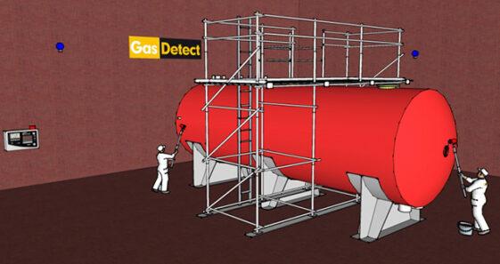 Gasdetektor til malehal - effektiv overvågning og detektering af giftige dampe