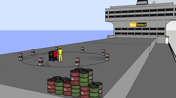 Gasdetektor til Svejsearbejde i eksplosionsfarlige områder