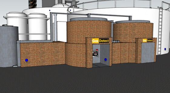 Gasdetektor til Biogas - detekterer alle former for gasser