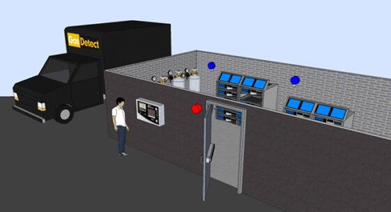 Gasdetektor til serverrum - for detektering af CO2 udslip